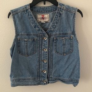 vintage Levi's cropped trucker denim vest